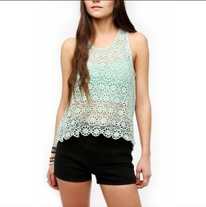 Urban Outfitters Pins & Needles Crochet Tank Top M